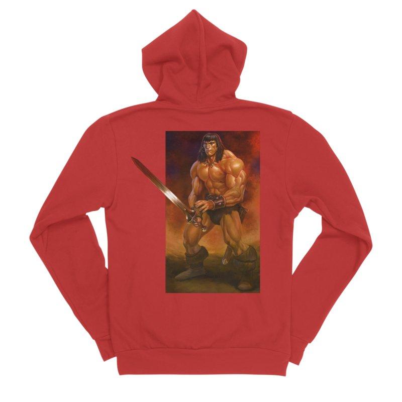 The Barbarian Men's Sponge Fleece Zip-Up Hoody by Ambrose H.H.'s Artist Shop