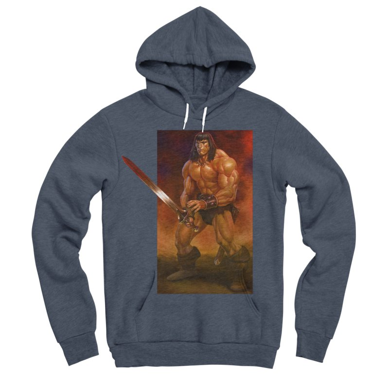The Barbarian Men's Sponge Fleece Pullover Hoody by Ambrose H.H.'s Artist Shop