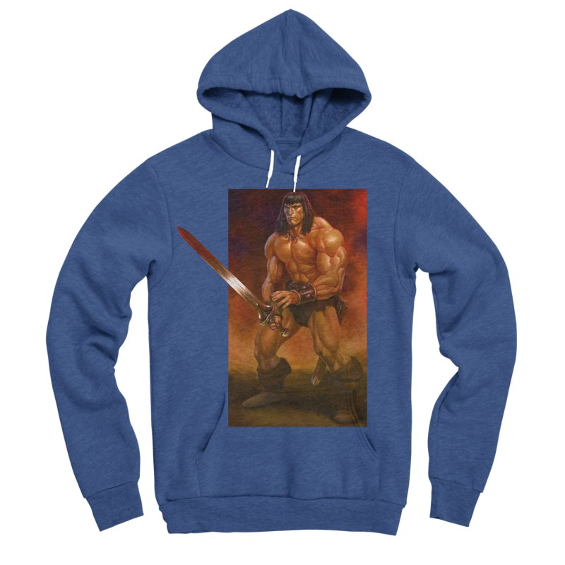 The Barbarian Women's Sponge Fleece Pullover Hoody by Ambrose H.H.'s Artist Shop