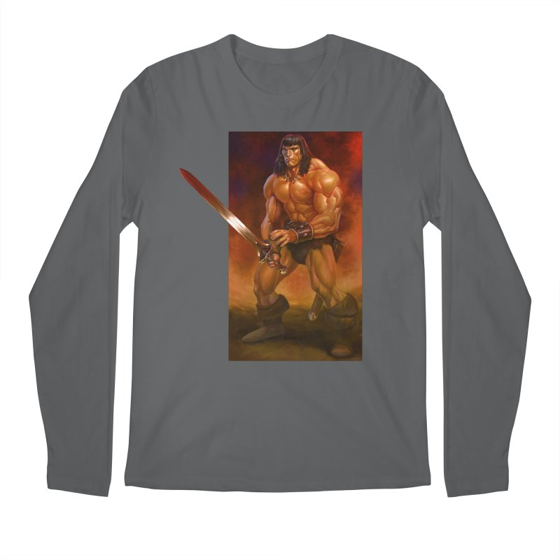 The Barbarian Men's Longsleeve T-Shirt by Ambrose H.H.'s Artist Shop
