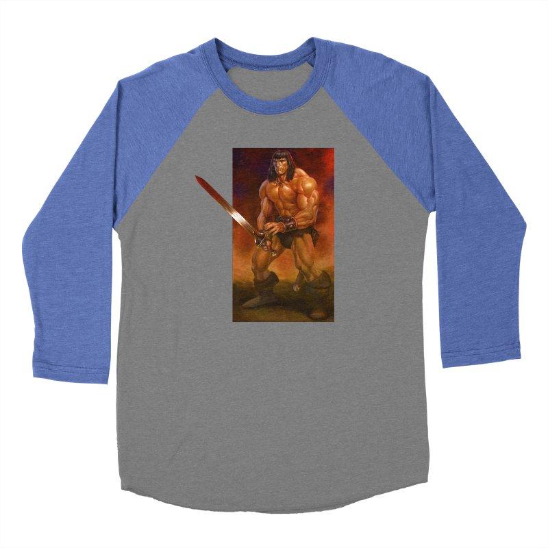The Barbarian Men's Baseball Triblend Longsleeve T-Shirt by Ambrose H.H.'s Artist Shop