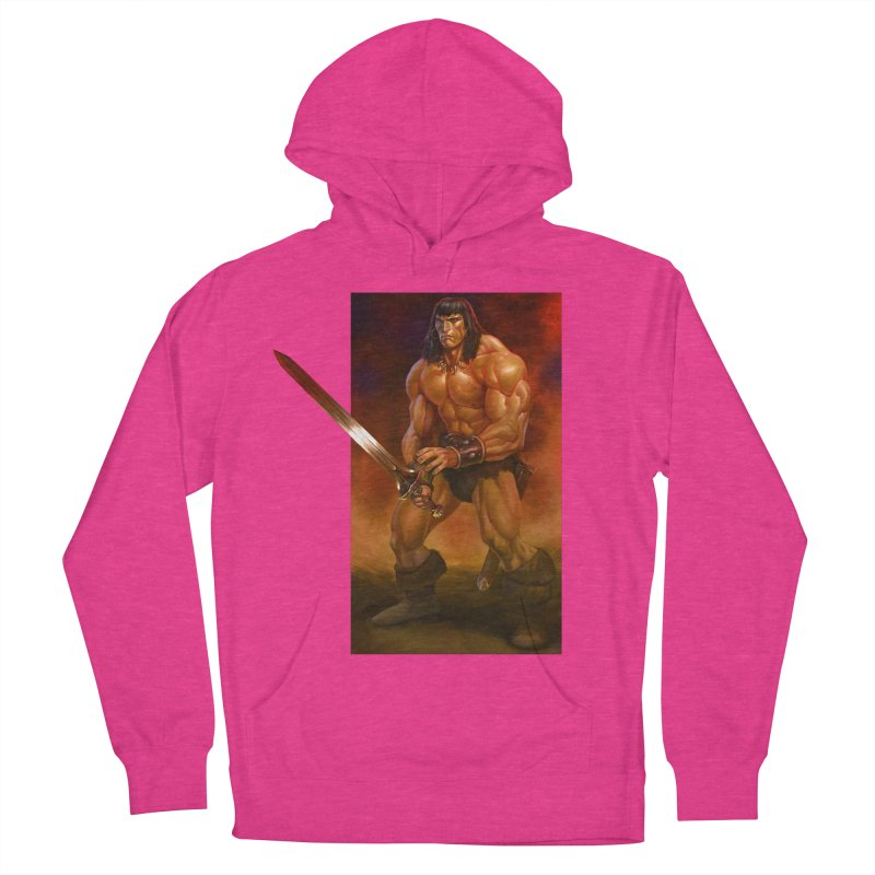 The Barbarian Women's French Terry Pullover Hoody by Ambrose H.H.'s Artist Shop