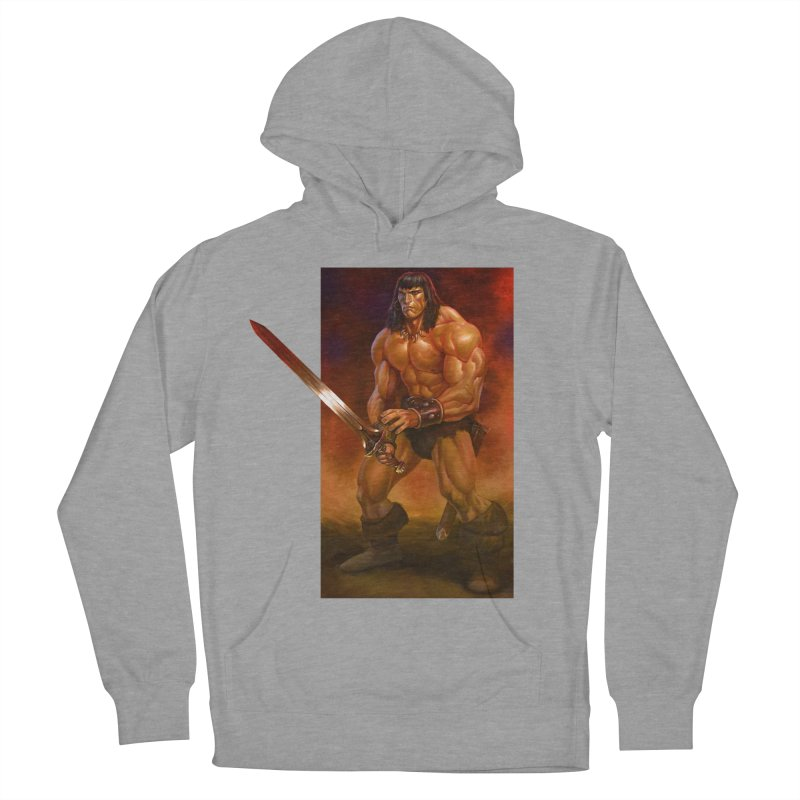 The Barbarian Men's French Terry Pullover Hoody by Ambrose H.H.'s Artist Shop
