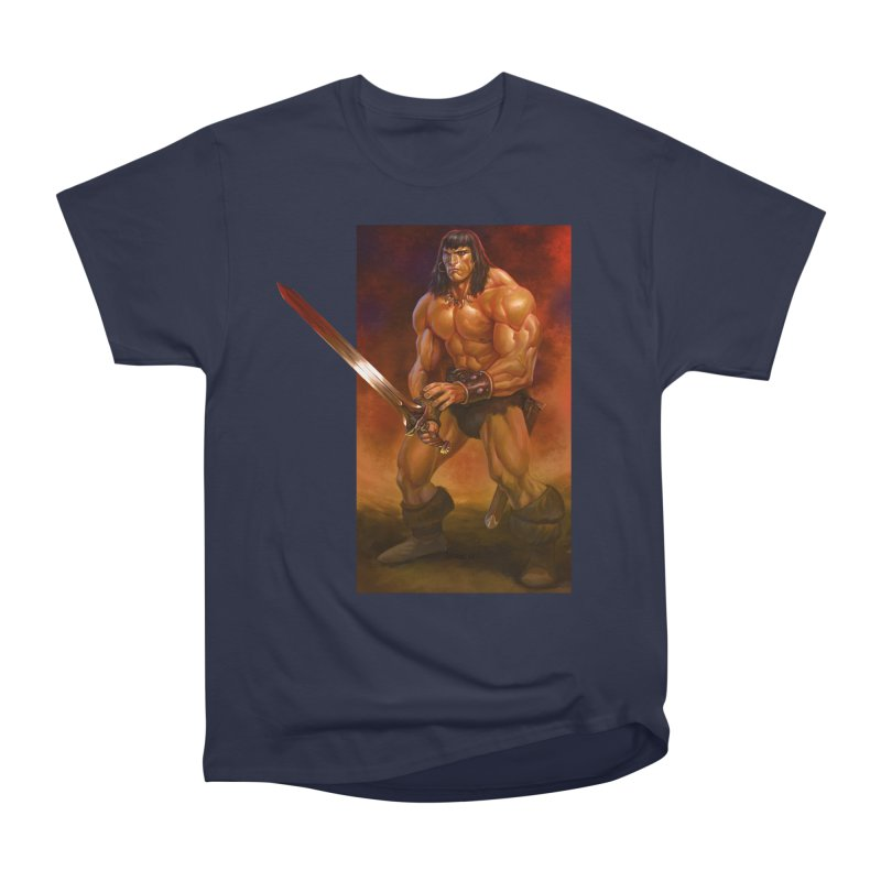 The Barbarian Women's Heavyweight Unisex T-Shirt by Ambrose H.H.'s Artist Shop