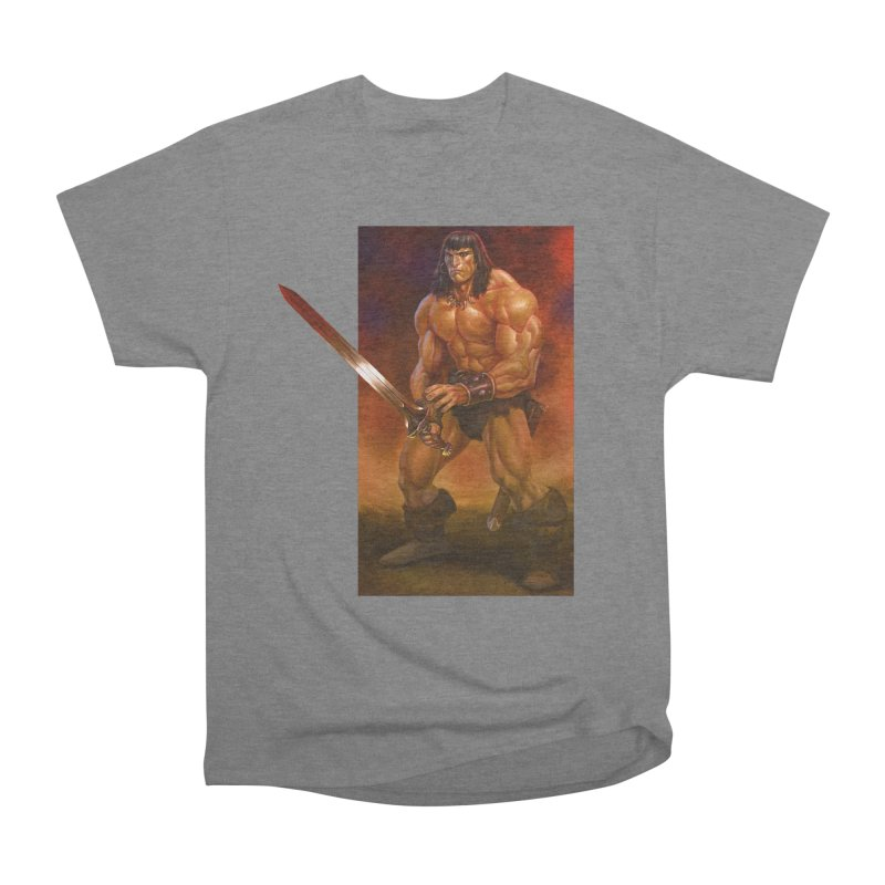 The Barbarian Women's Heavyweight Unisex T-Shirt by Ambrose H.H.'s Artist Shop