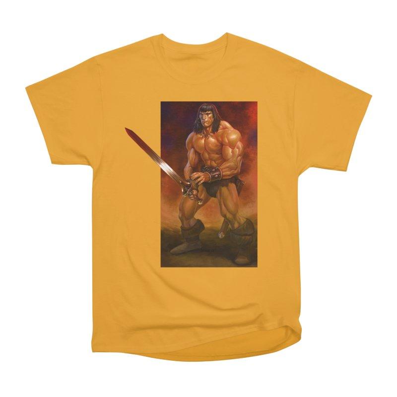 The Barbarian Men's Heavyweight T-Shirt by Ambrose H.H.'s Artist Shop