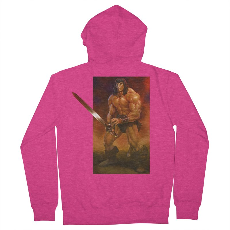 The Barbarian Women's French Terry Zip-Up Hoody by Ambrose H.H.'s Artist Shop
