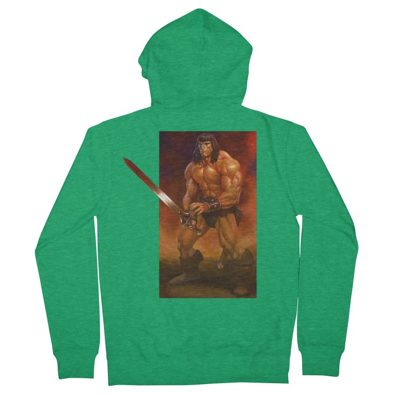 The Barbarian Men's Zip-Up Hoody by Ambrose H.H.'s Artist Shop