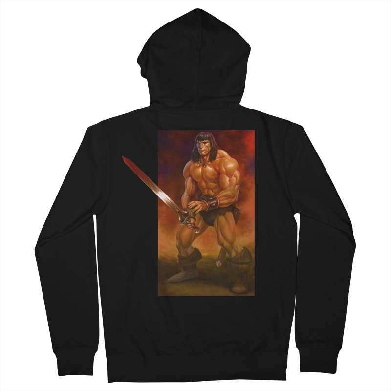 The Barbarian Men's French Terry Zip-Up Hoody by Ambrose H.H.'s Artist Shop