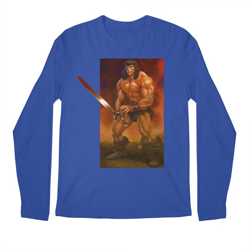 The Barbarian Men's Regular Longsleeve T-Shirt by Ambrose H.H.'s Artist Shop