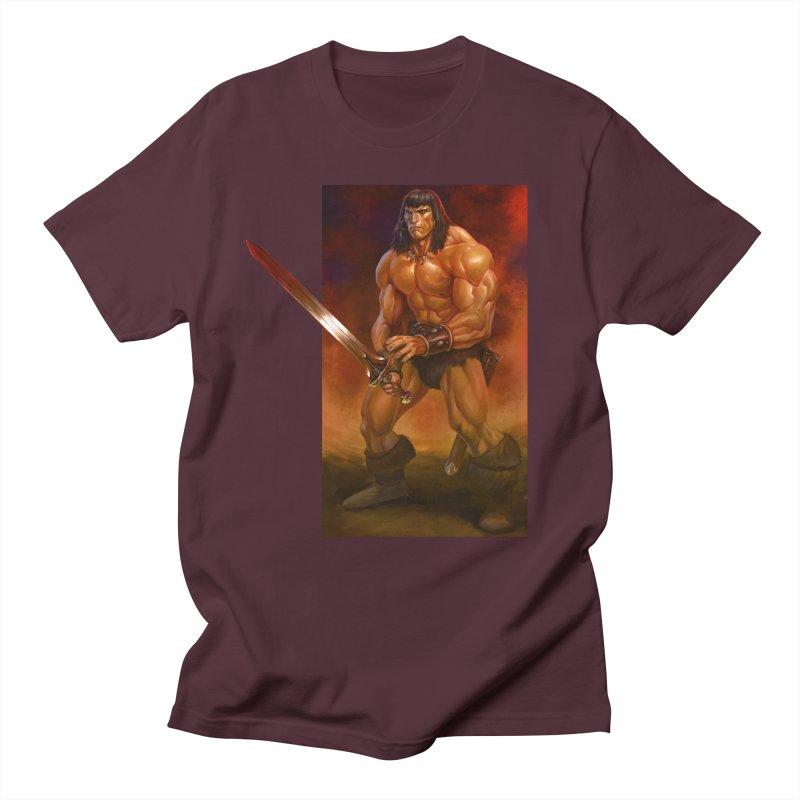 The Barbarian Men's Regular T-Shirt by Ambrose H.H.'s Artist Shop