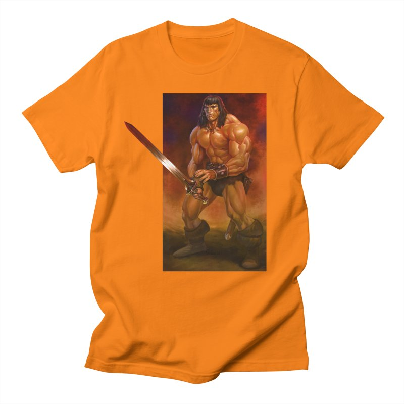 The Barbarian Men's Regular T-Shirt by Ambrose H.H.'s Artist Shop