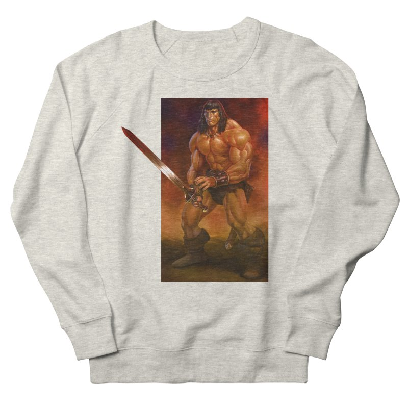 The Barbarian Men's French Terry Sweatshirt by Ambrose H.H.'s Artist Shop
