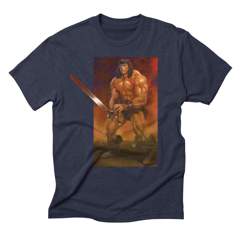 The Barbarian Men's Triblend T-Shirt by Ambrose H.H.'s Artist Shop