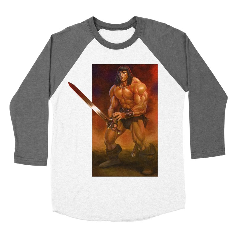 The Barbarian Women's Baseball Triblend Longsleeve T-Shirt by Ambrose H.H.'s Artist Shop