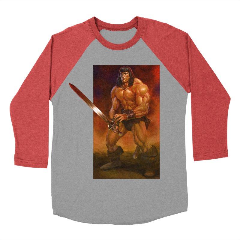 The Barbarian Women's Baseball Triblend Longsleeve T-Shirt by Ambrose H.H.'s Artist Shop