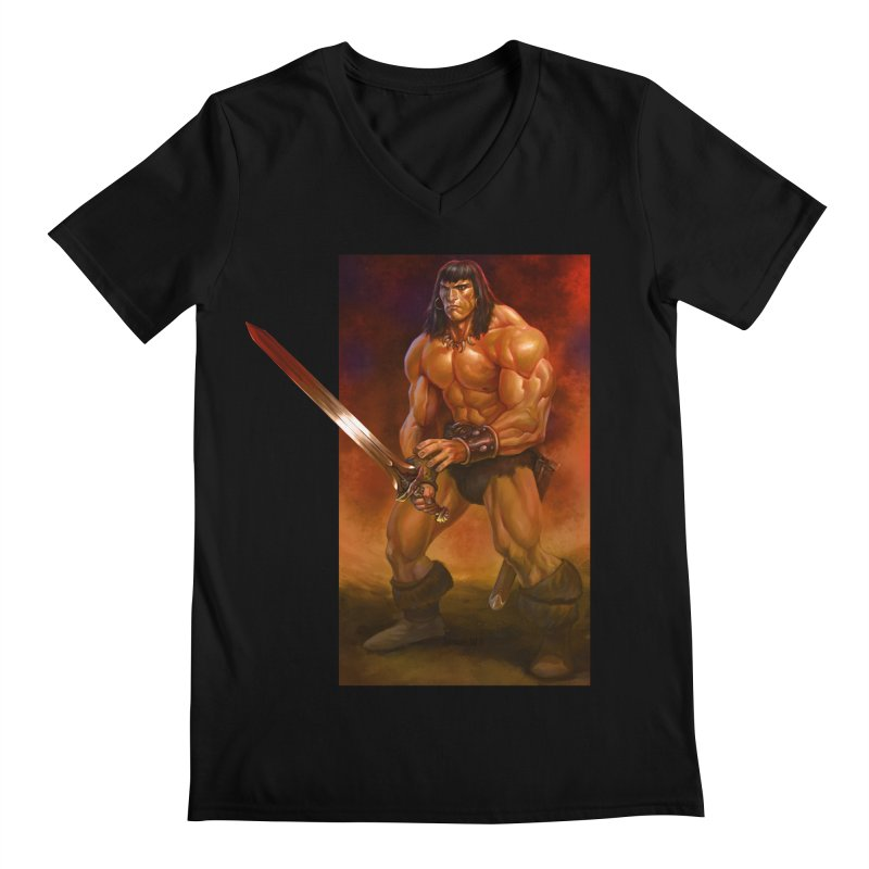 The Barbarian Men's V-Neck by Ambrose H.H.'s Artist Shop