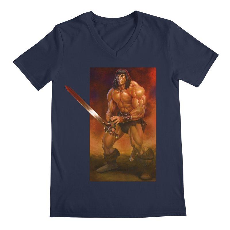 The Barbarian Men's V-Neck by Ambrose H.H.'s Artist Shop