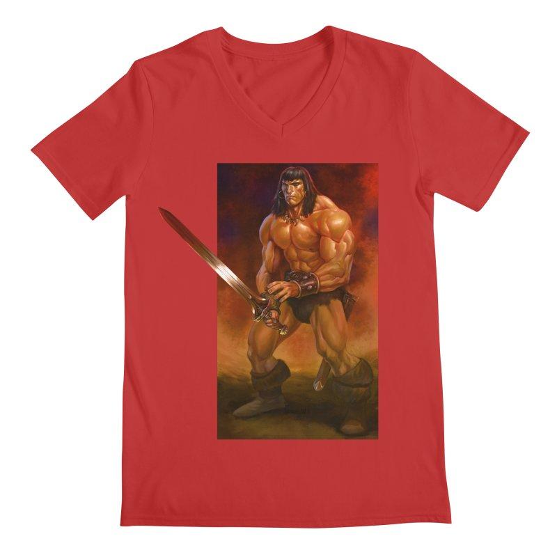 The Barbarian Men's Regular V-Neck by Ambrose H.H.'s Artist Shop