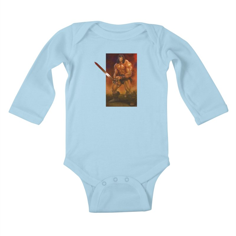 The Barbarian Kids Baby Longsleeve Bodysuit by Ambrose H.H.'s Artist Shop