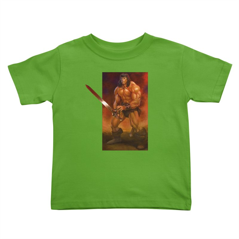 The Barbarian Kids Toddler T-Shirt by Ambrose H.H.'s Artist Shop