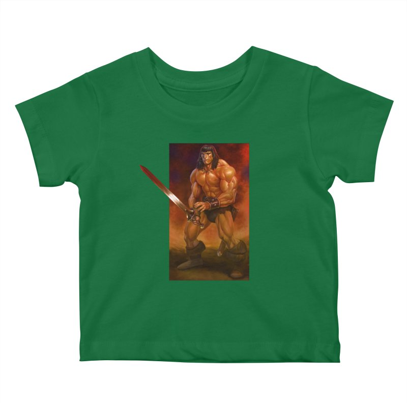 The Barbarian Kids Baby T-Shirt by Ambrose H.H.'s Artist Shop
