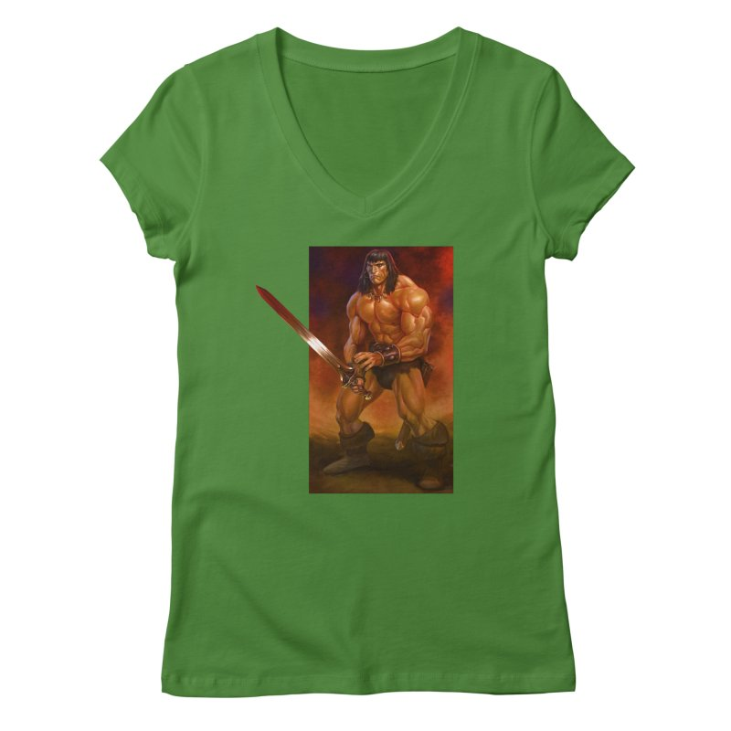 The Barbarian Women's V-Neck by Ambrose H.H.'s Artist Shop