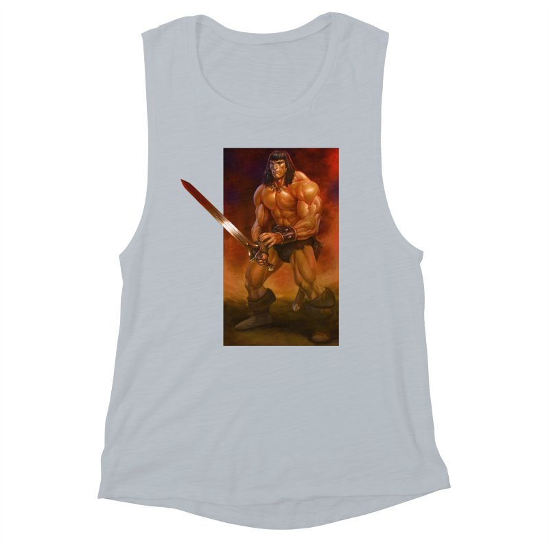 The Barbarian Women's Muscle Tank by Ambrose H.H.'s Artist Shop