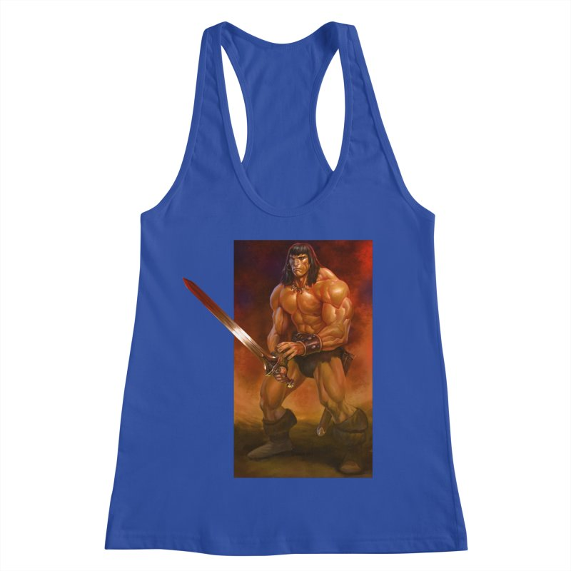 The Barbarian Women's Racerback Tank by Ambrose H.H.'s Artist Shop