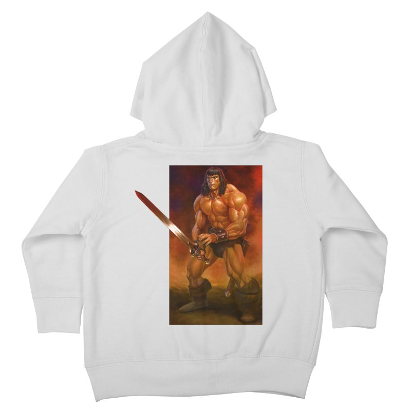 The Barbarian Kids Toddler Zip-Up Hoody by Ambrose H.H.'s Artist Shop