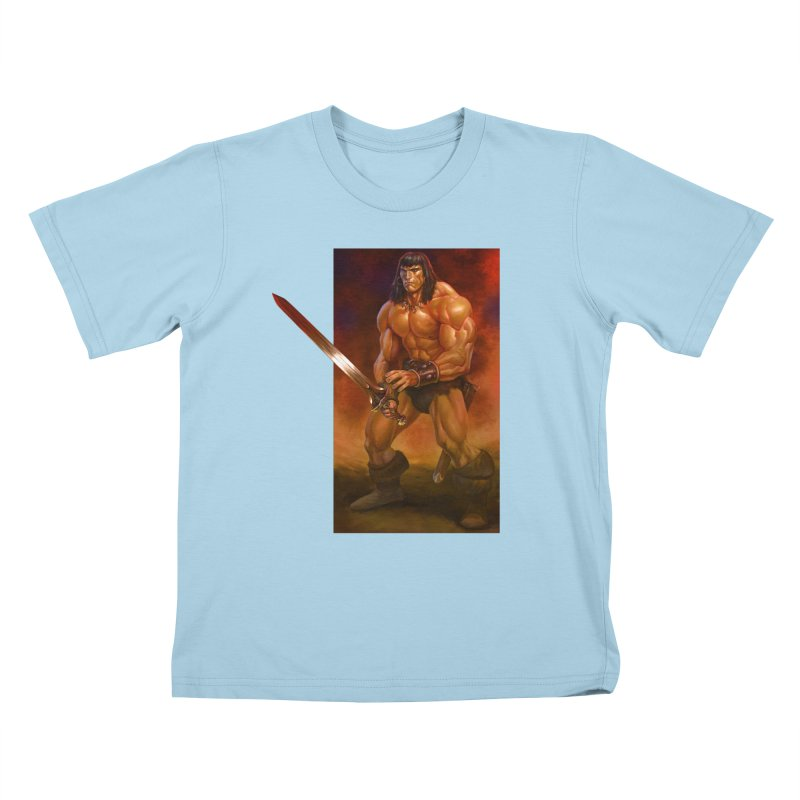 The Barbarian Kids T-Shirt by Ambrose H.H.'s Artist Shop