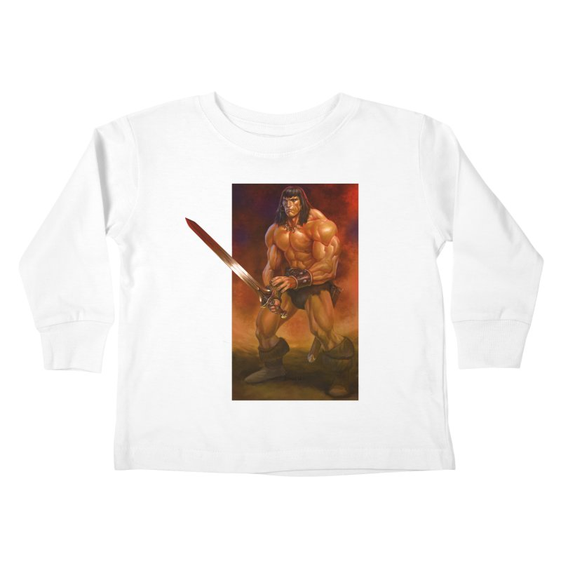 The Barbarian Kids Toddler Longsleeve T-Shirt by Ambrose H.H.'s Artist Shop