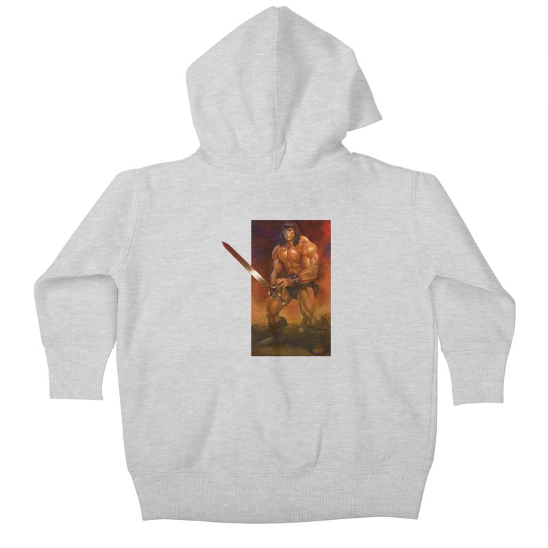 The Barbarian Kids Baby Zip-Up Hoody by Ambrose H.H.'s Artist Shop