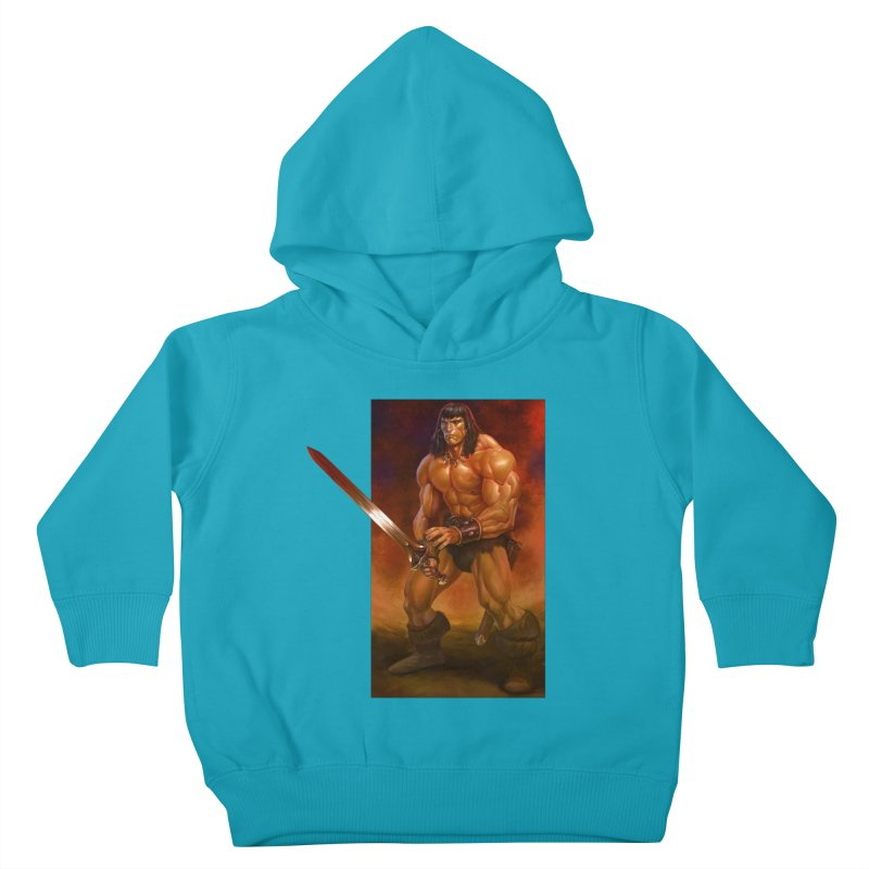 The Barbarian Kids Toddler Pullover Hoody by Ambrose H.H.'s Artist Shop