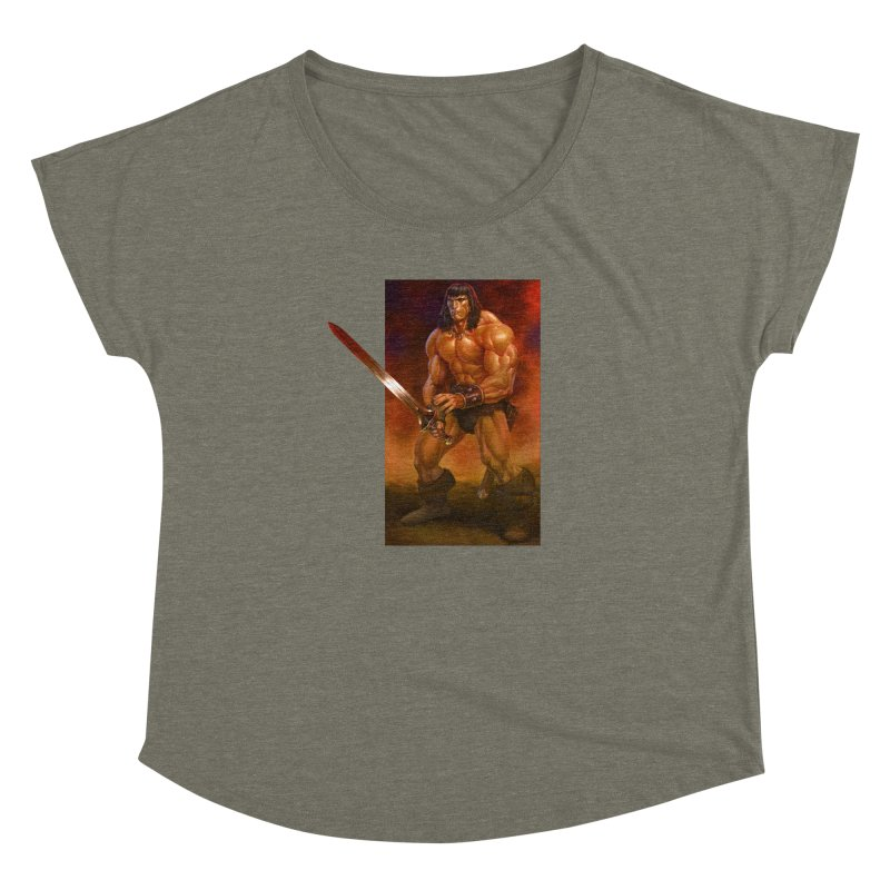 The Barbarian Women's Dolman Scoop Neck by Ambrose H.H.'s Artist Shop