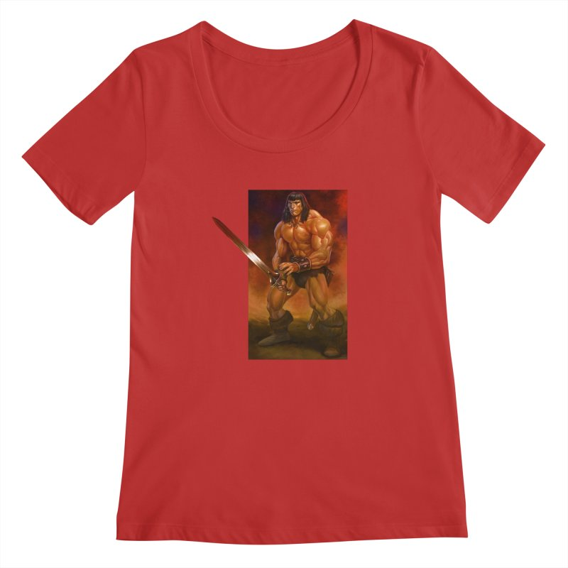 The Barbarian Women's Regular Scoop Neck by Ambrose H.H.'s Artist Shop