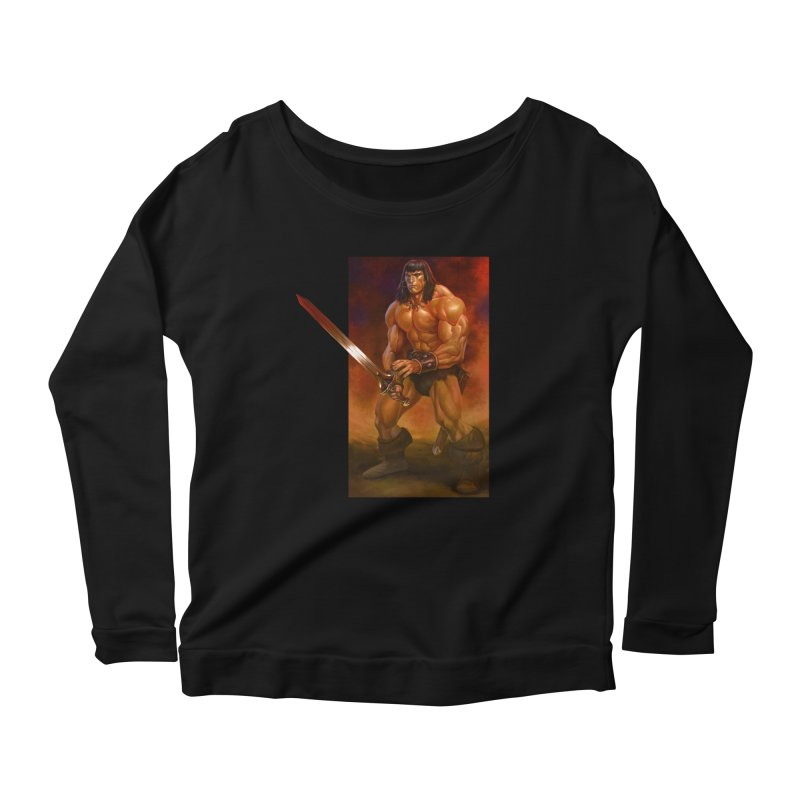 The Barbarian Women's Scoop Neck Longsleeve T-Shirt by Ambrose H.H.'s Artist Shop