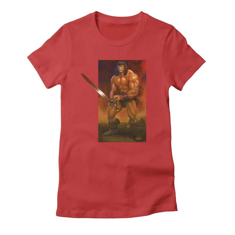 The Barbarian Women's Fitted T-Shirt by Ambrose H.H.'s Artist Shop