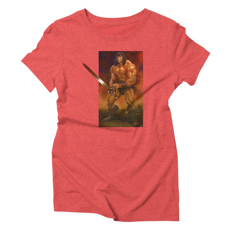 The Barbarian Women's Triblend T-Shirt by Ambrose H.H.'s Artist Shop