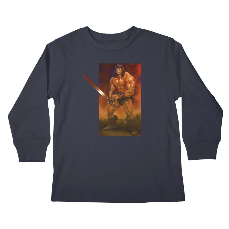 The Barbarian Kids Longsleeve T-Shirt by Ambrose H.H.'s Artist Shop