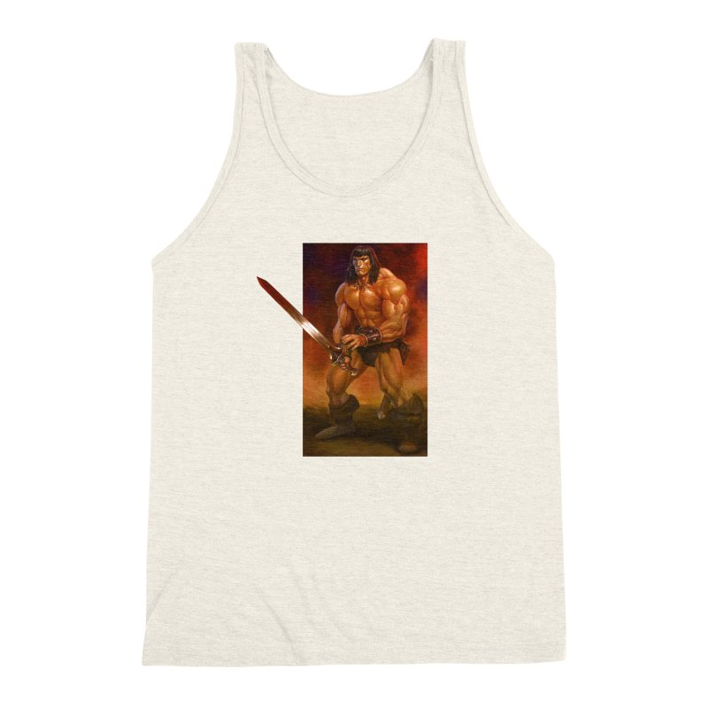 The Barbarian Men's Triblend Tank by Ambrose H.H.'s Artist Shop