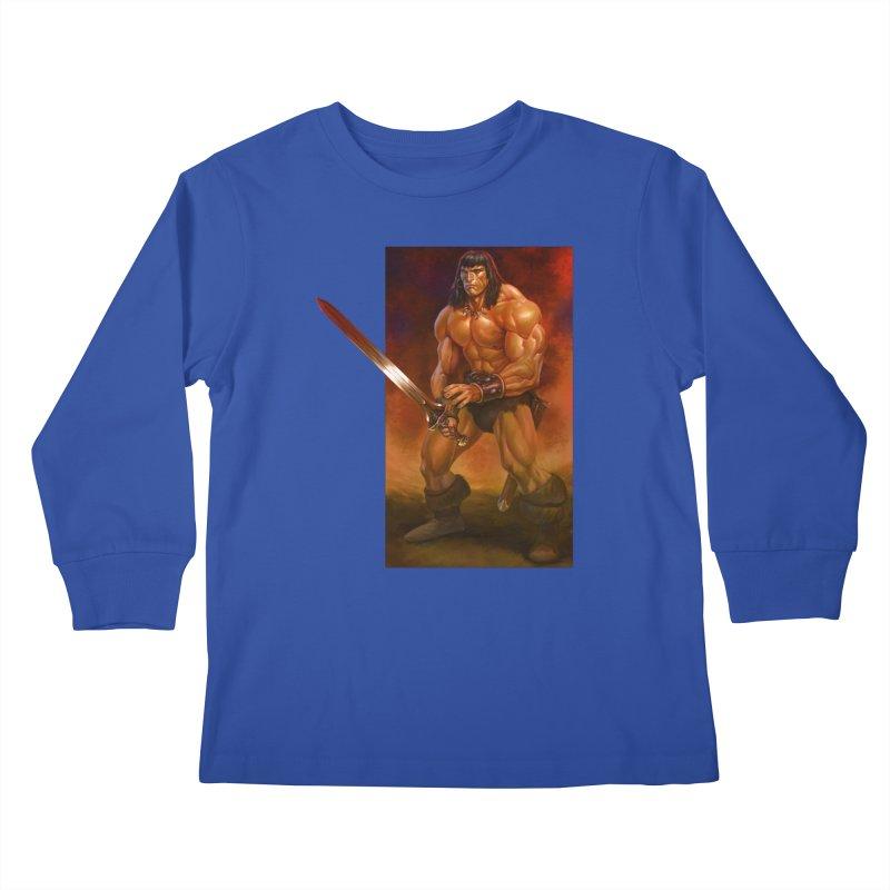 The Barbarian Kids Longsleeve T-Shirt by Ambrose H.H.'s Artist Shop