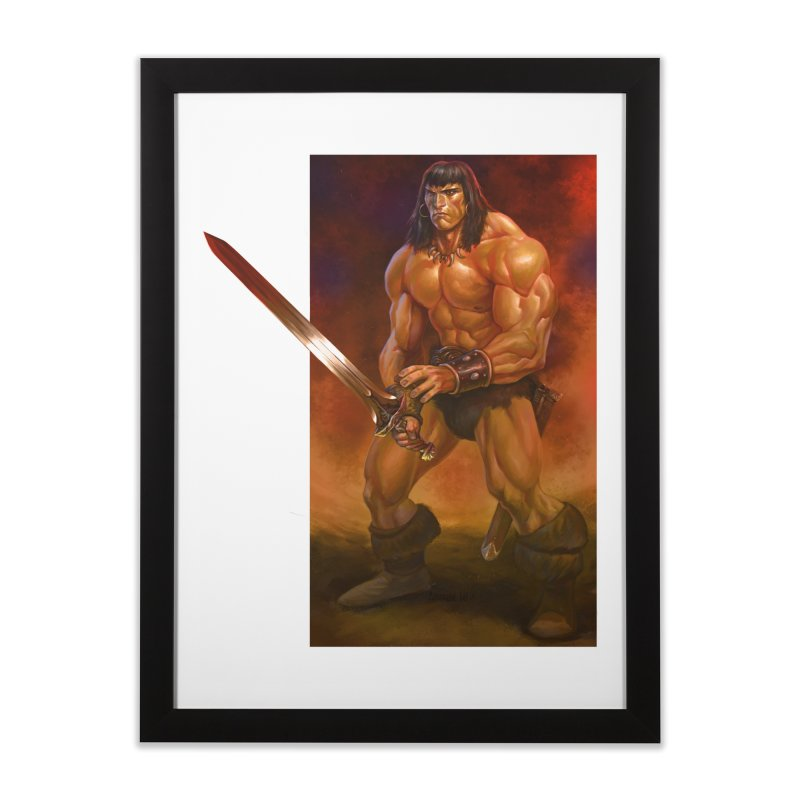 The Barbarian Home Framed Fine Art Print by Ambrose H.H.'s Artist Shop