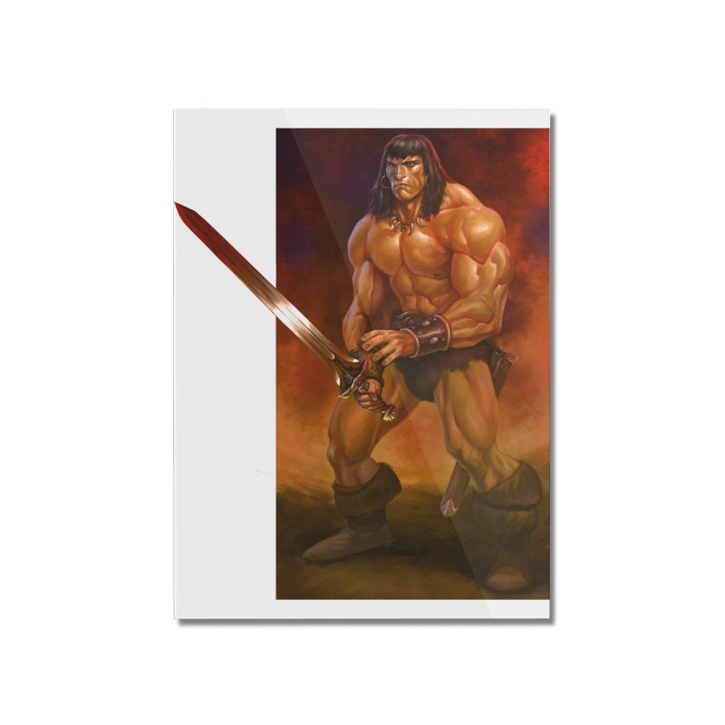 The Barbarian Home Mounted Acrylic Print by Ambrose H.H.'s Artist Shop