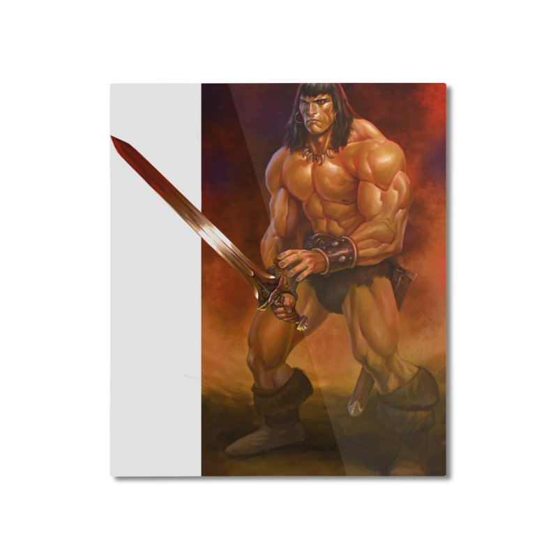 The Barbarian Home Mounted Aluminum Print by Ambrose H.H.'s Artist Shop