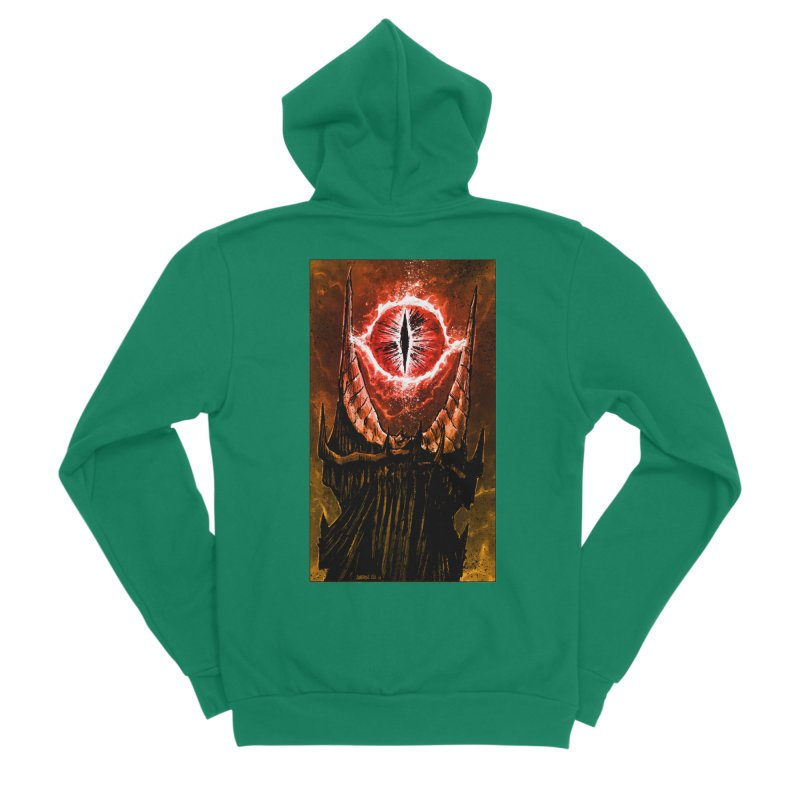 The Great Eye Men's Sponge Fleece Zip-Up Hoody by Ambrose H.H.'s Artist Shop