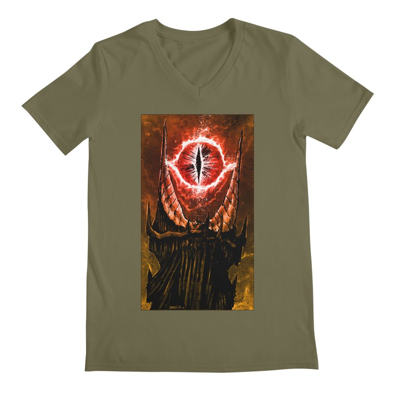 The Great Eye Men's V-Neck by Ambrose H.H.'s Artist Shop