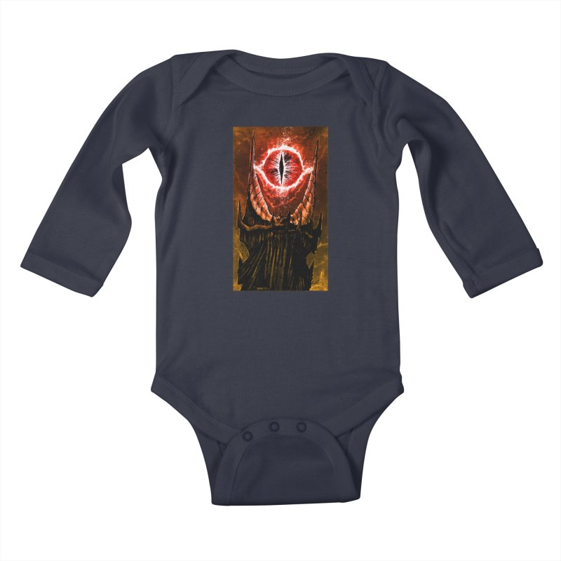 The Great Eye Kids Baby Longsleeve Bodysuit by Ambrose H.H.'s Artist Shop
