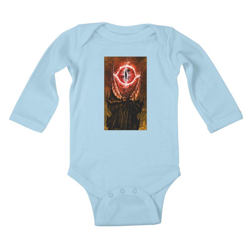 The Great Eye Kids Baby Longsleeve Bodysuit by Ambrose H.H.'s Artist Shop