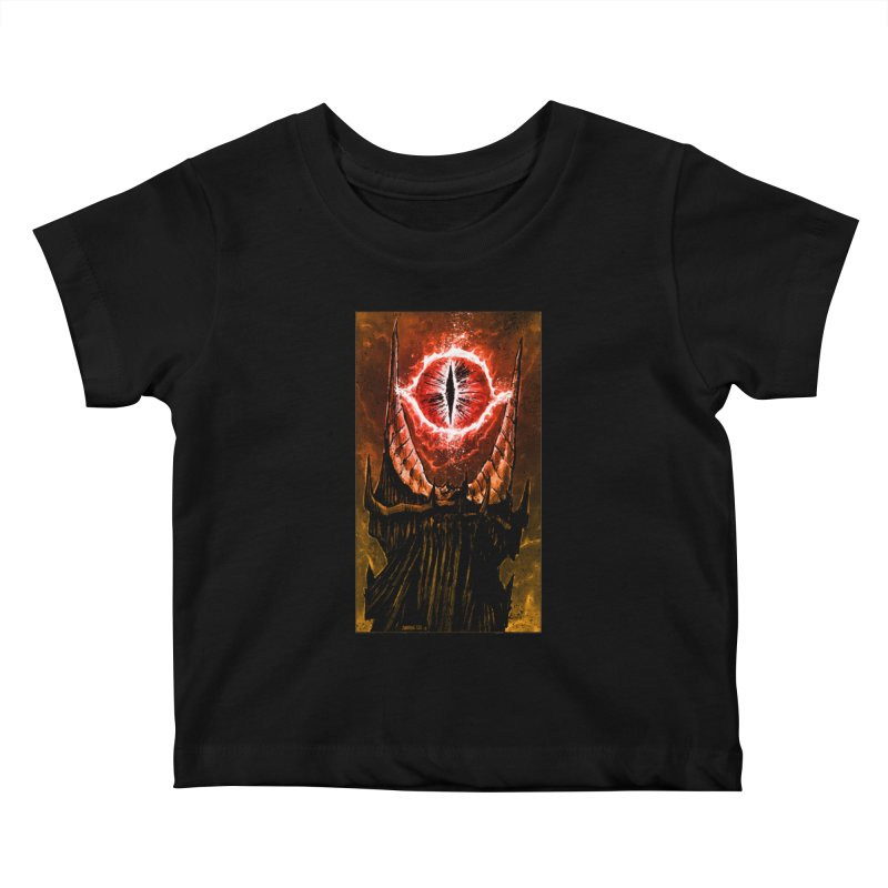 The Great Eye Kids Baby T-Shirt by Ambrose H.H.'s Artist Shop